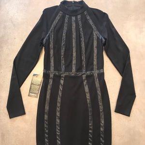 NWT Bebe long sleeve body con dress size M